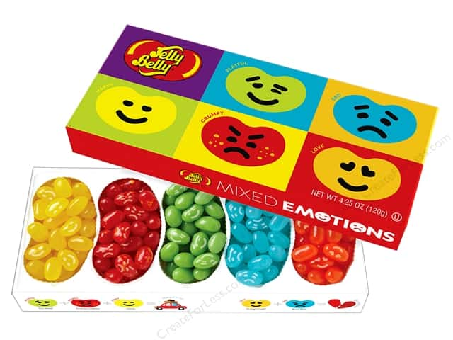 Jelly Belly Jelly Beans Gift Box 4.25 oz 5 Flavors Mixed Emotions