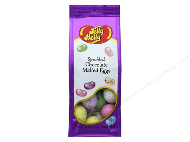 Jelly Belly Confections 4.6 oz Chocolate Malted Eggs Speckled