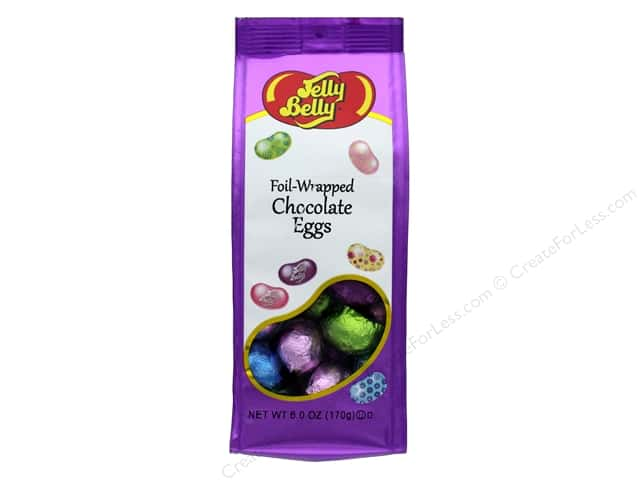 Jelly Belly Confections 6oz Foil Wrapped Chocolate Solid Eggs