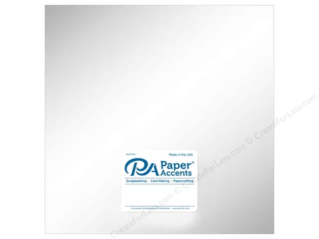 Paper Accents Cardstock 12 in. x 12 in. Pearlized 111lb Ice Silver 5 pc