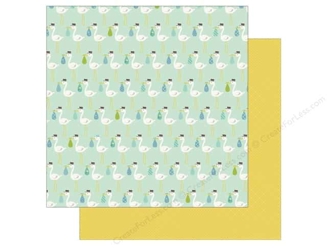 Echo Park Collection Sweet Baby Boy Paper  12 in. x 12 in.  New Arrival (25 pieces)