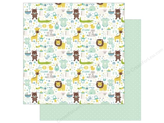 Echo Park Collection Sweet Baby Boy Paper  12 in. x 12 in. It's A Boy (25 pieces)
