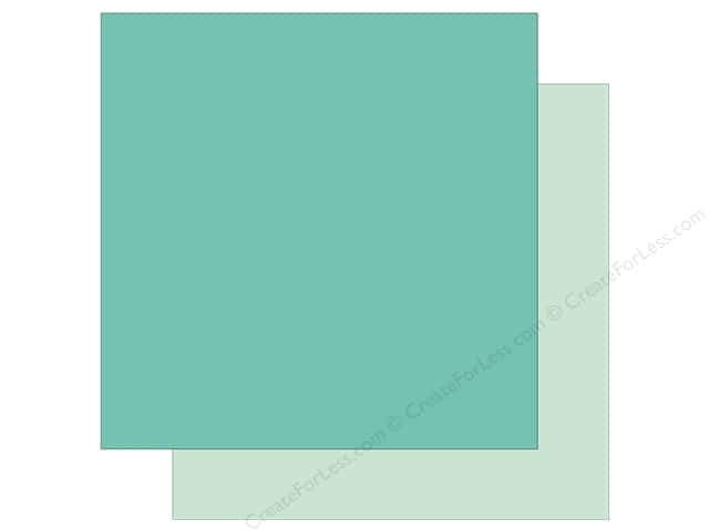 Echo Park Collection Sweet Baby Boy Paper  12 in. x 12 in. Teal/Light Teal (25 pieces)