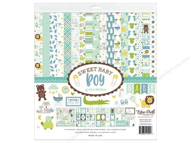 Echo Park Collection Sweet Baby Boy Collection Kit 12 in. x 12 in.