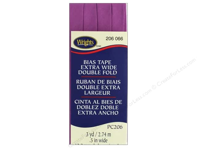 Wrights Extra Wide Double Fold Bias 3 yd Radiant Orchid