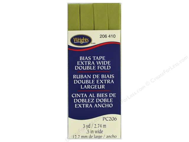 Wrights Extra Wide Double Fold Bias 3 yd Dill Pickle