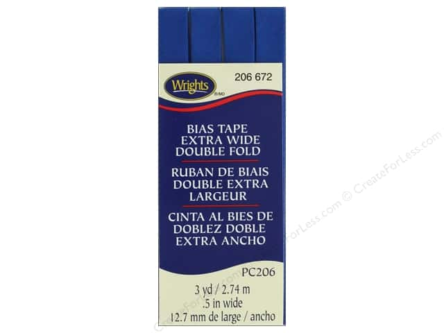 Wrights Extra Wide Double Fold Bias 3 yd Snorkel Blue