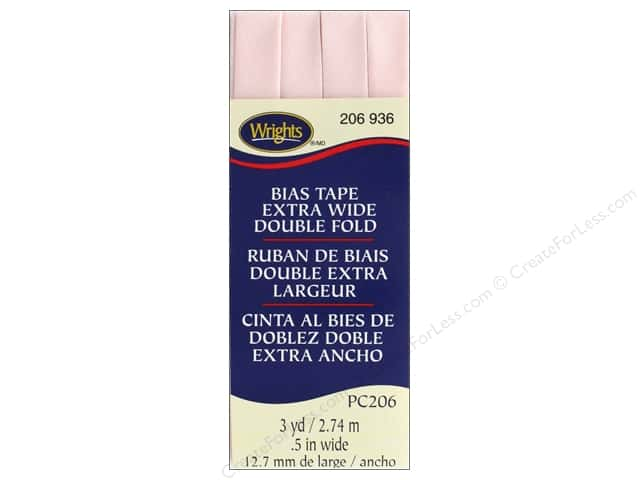 Wrights Extra Wide Double Fold Bias 3 yd Rosewater
