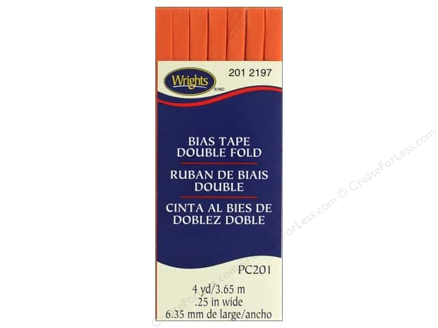 Wrights Double Fold Bias Tape - Orange Peel 4 yd.