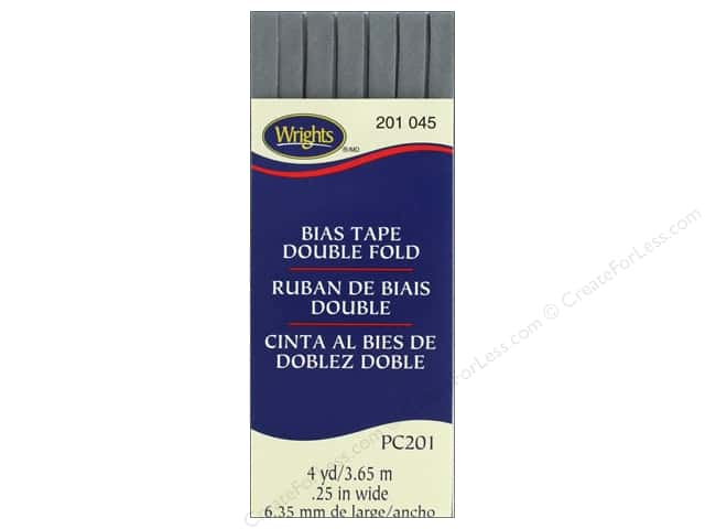 Wrights Double Fold Bias Tape - Light Gray 4 yd.