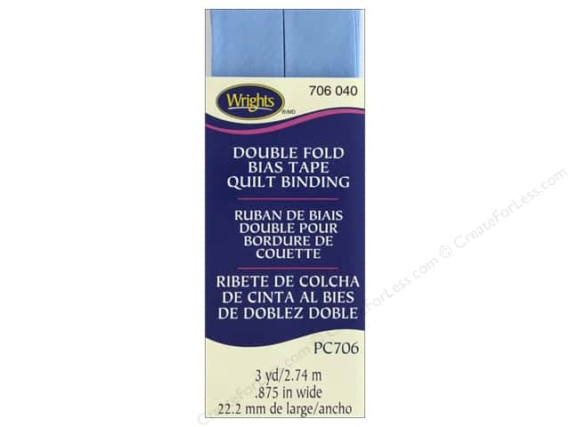 Wrights Double Fold Quilt Binding 3 yd. Delft
