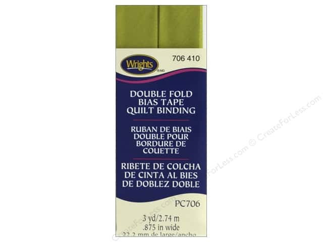 Wrights Double Fold Quilt Binding - Dill Pickle 3 yd.