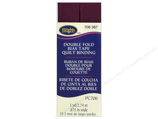 Wrights Quilt Binding Double Fold 3 yd Geranium