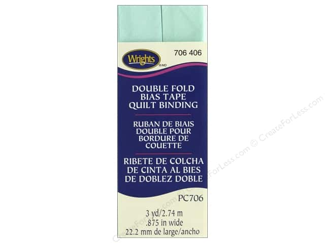 Wrights Quilt Binding Double Fold 3 yd Cool Cucumber
