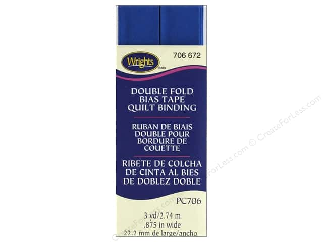 Wrights Quilt Binding Double Fold 3 yd Snorkel Blue