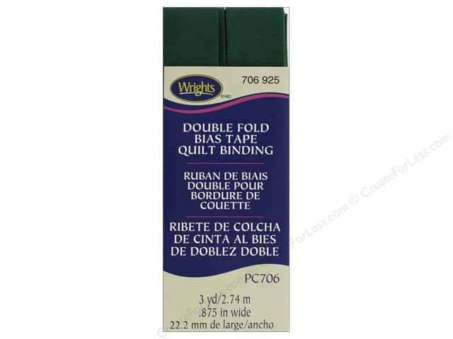 Wrights Double Fold Quilt Binding - Hunter 3 yd.