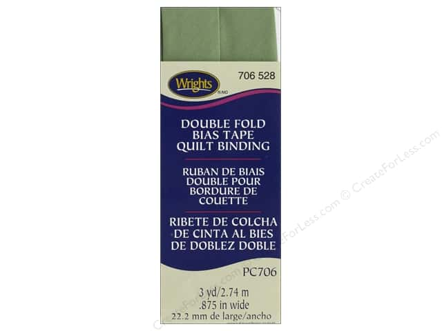 Wrights Quilt Binding Double Fold 3 yd Sage