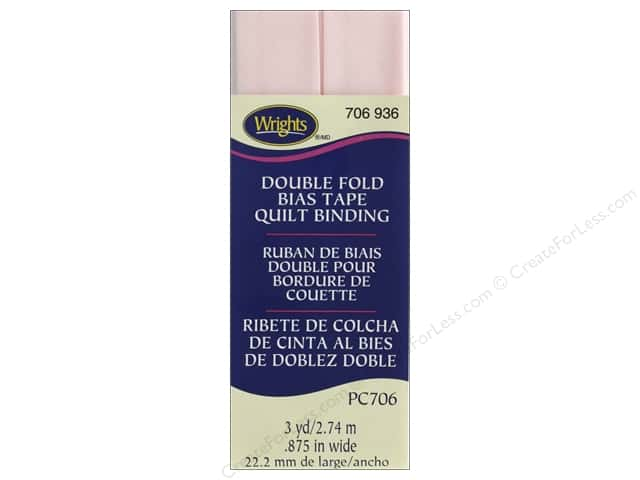 Wrights Quilt Binding Double Fold 3 yd Rosewater