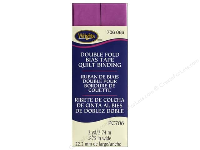 Wrights Quilt Binding Double Fold 3 yd Radiant Orchid