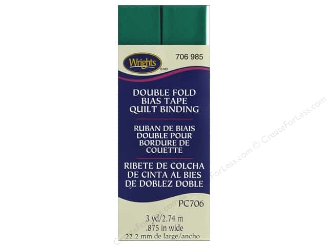Wrights Quilt Binding Double Fold 3 yd Irish Clover