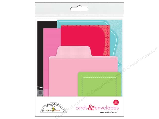 Doodlebug So Punny Card & Envelope Kit Love