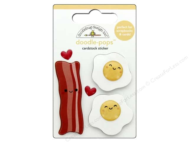 Doodlebug Collection So Punny Doodle Pops Bacon & Eggs