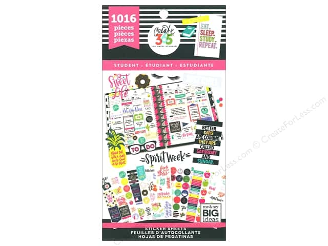 Me&My Big Ideas Create 365 Happy Planner Sticker Value Pack Student Sweet Life