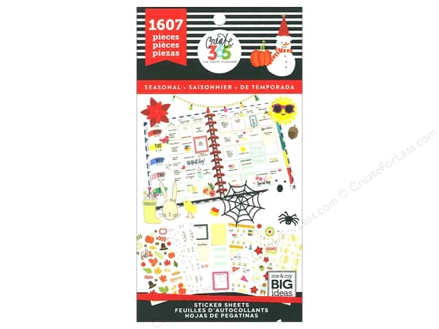 Me&My Big Ideas Collection Create 365 Happy Planner Sticker Value Pack Seasonal