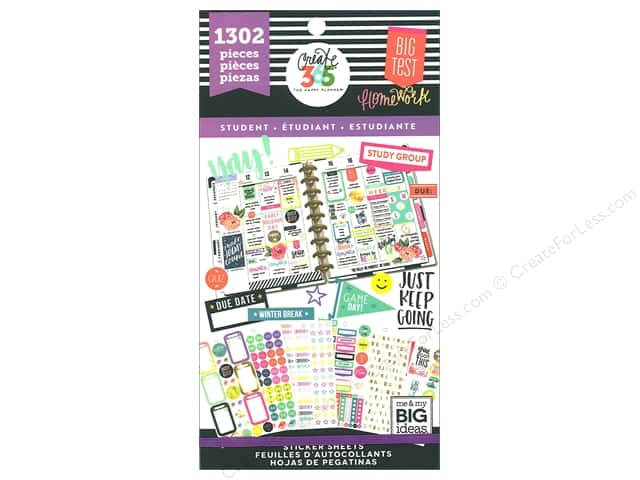 Me&My Big Ideas Collection Create 365 Happy Planner Sticker Value Pack Student Fri Yay