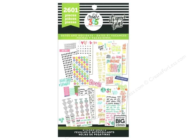 Me&My Big Ideas Collection Create 365 Happy Planner Sticker Value Pack It's Your Year