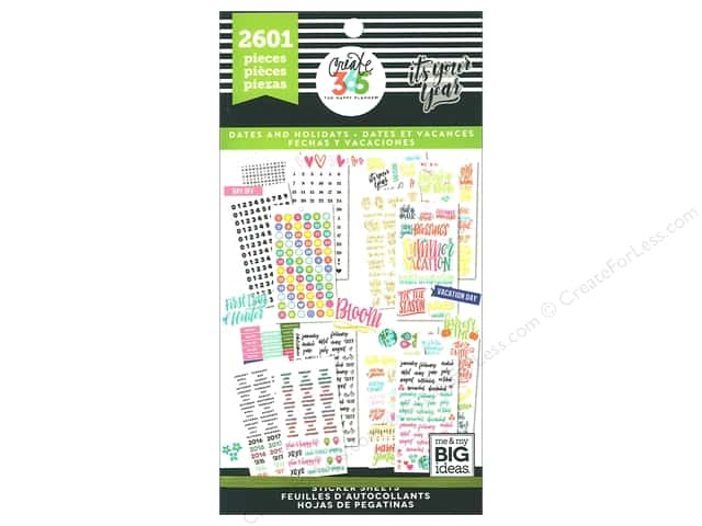 Me&My Big Ideas Create 365 Happy Planner Sticker Value Pack Teacher Sweet Life