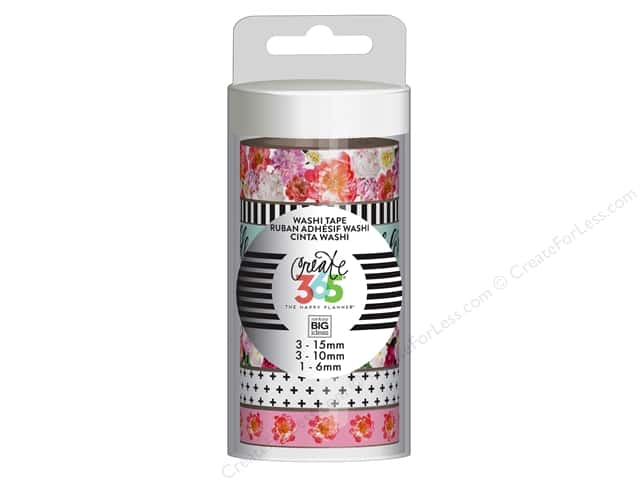Me&My Big Ideas Collection Create 365 Happy Planner Washi Tape Market Florals