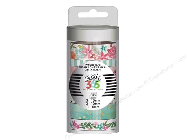 Me&My Big Ideas Collection Create 365 Happy Planner Washi Tape Happy Mind