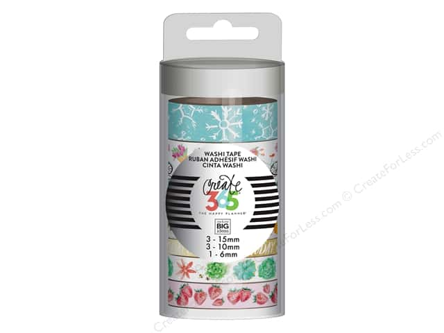 Me&My Big Ideas Collection Create 365 Happy Planner Washi Tape Everyday