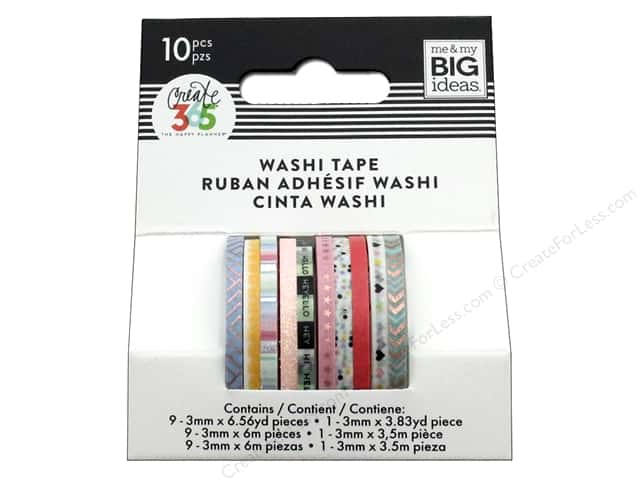 Me&My Big Ideas Create 365 Happy Planner Washi Tape Mini Pastel