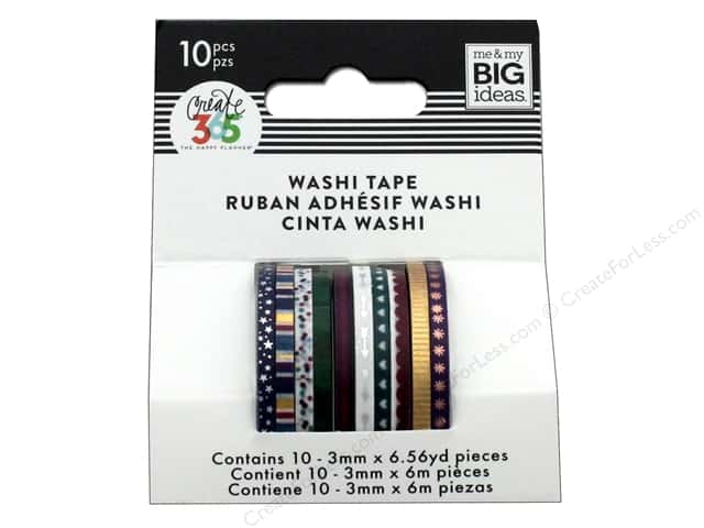 Me&My Big Ideas Collection Create 365 Happy Planner Washi Tape Mini Jewel Tones
