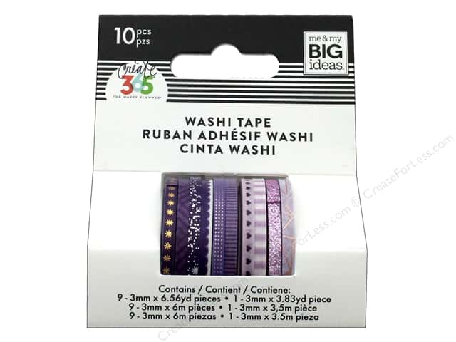 Me&My Big Ideas Collection Create 365 Happy Planner Washi Tape Mini Purple Hues