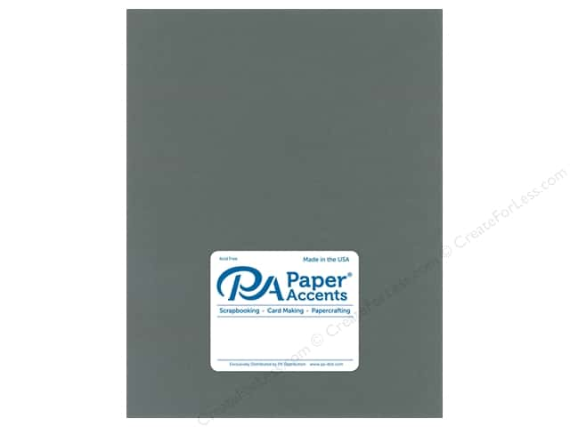 Paper Accents Cardstock 8.5 in. x 11 in.  Muslin 73 lb Dark Gray (25 sheets)
