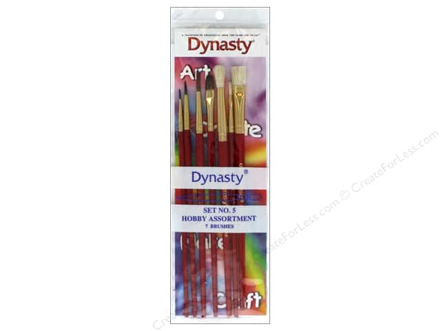 Dynasty Brush Set 5 Assorted Hobby
