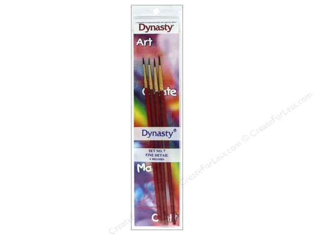 Dynasty Brush Set 7 Assorted Fine Detail