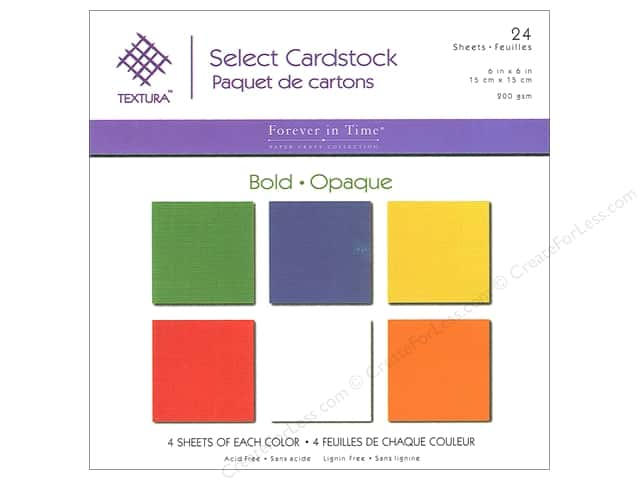 Multicraft Cardstock 6 in. x 6 in. Textura Select Pack Bold