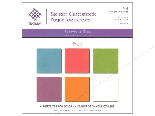 Multicraft Cardstock  6 in. x 6 in. Textura Select Pack Fruit
