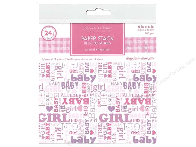 Forever in Time 6 x 6 in. Paper Stack Baby Girl