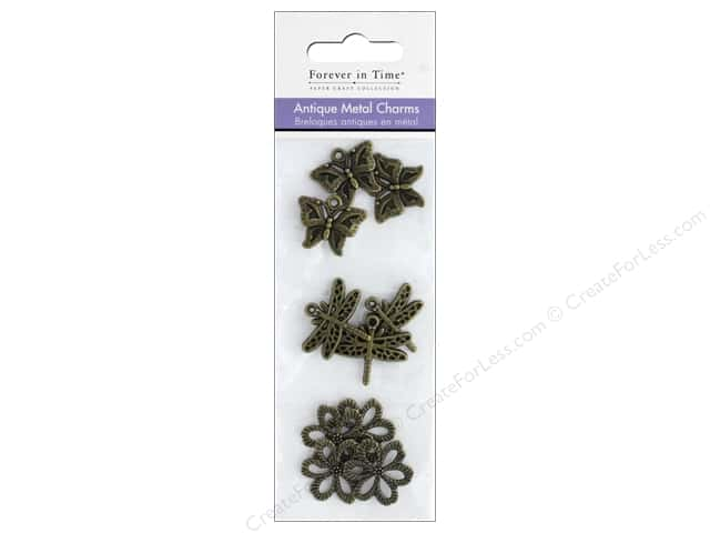 Mulitcraft Metal Charms Antique Flutter