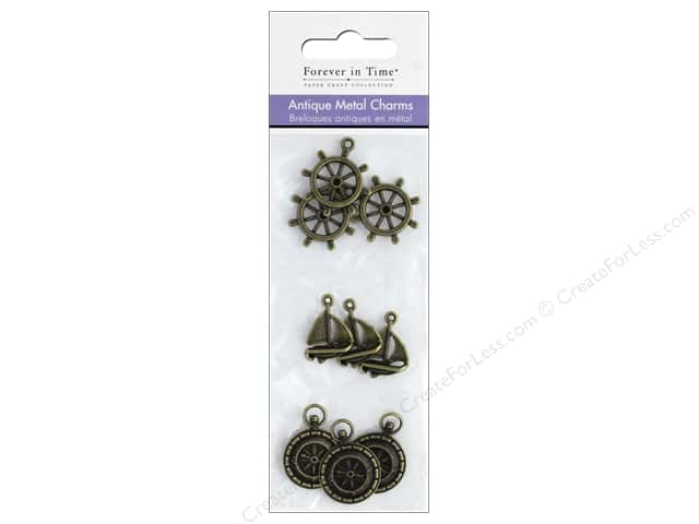 Mulitcraft Metal Charms Antique Nautical