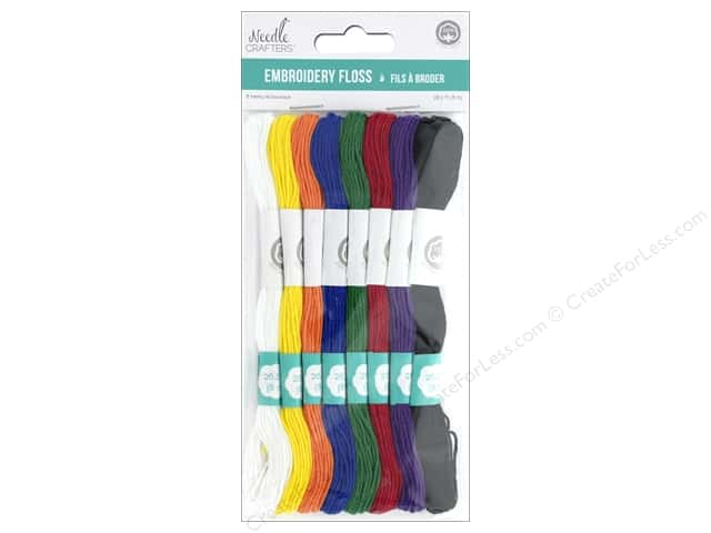 MultiCraft Cord Needlecrafter Embroidery Floss 6 Strand Cotton Basic