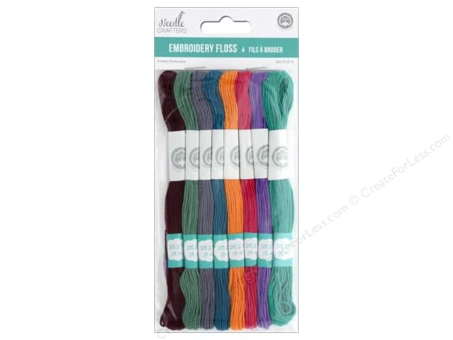 MultiCraft Cord Needlecrafter Embroidery Floss 6 Strand Glamour