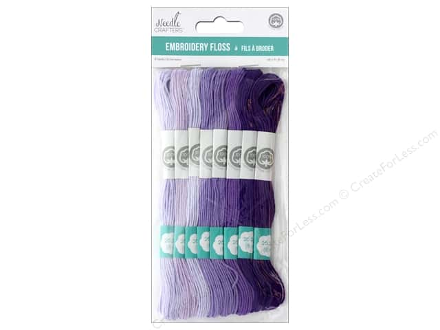 MultiCraft Cord Needlecrafter Embroidery Floss 6 Strand Lavender Dreams