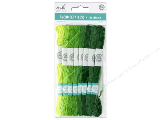 MultiCraft Cord Needlecrafter Embroidery Floss Cord 2 Strand Go Green