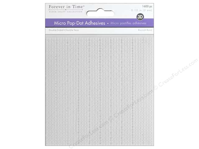 Forever in Time 3D Pop Dots - 1/8 in. Round Foam 1600 pc.